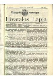 Csongrád vármegye Hivatalos Lapja 1913. - Csúcs János - Régikönyvek