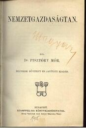 Nemzetgazdaságtan - Pisztóry Mór - Régikönyvek