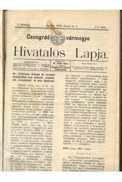 Csongrád vármegye Hivatalos Lapja 1912. - Csúcs János - Régikönyvek