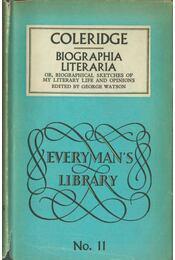 Biographia Literaria - Coleridge, Samuel Taylor - Régikönyvek
