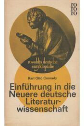 Einführung in die Neuere deutsche Literaturwissenschaft - CONRADY, KARL OTTO - Régikönyvek