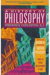 A History of Philosophy Volume VI. - Copleston, Frederick - Régikönyvek