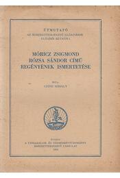 Móricz Zsigmond Rózsa Sándor című regényének ismertetése - Czine Mihály - Régikönyvek