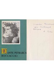 Dante, Petrarca, Boccaccio (Kardos Tibor által dedikált) - Kardos Tibor - Régikönyvek