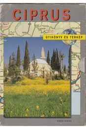 Ciprus útikönyv és térkép - Davies, Paul Harcourt - Régikönyvek