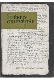 Székely oklevéltár II. (Dedikált) - Demény Lajos, Pataki József - Régikönyvek