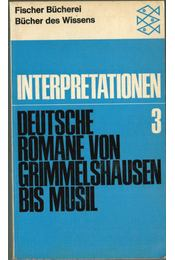 Deutsche Romane von Grimmelshausen bis Musil - Régikönyvek