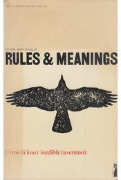 Rules & Meanings - Douglas, Mary - Régikönyvek