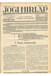 Jogi hirlap 1937. XI. évfolyam 1-52. szám (teljes) - Dr. Boda Gyula (szerk.) - Régikönyvek