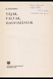 Tájak, falvak, hagyományok. [Tanulmányok.] (Dedikált.) - Dr. Kós Károly - Régikönyvek