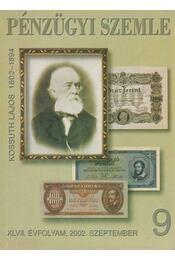 Pénzügyi Szemle XLVII. évfolyam, 2002. szeptember - Dr. Szamek Tamás (főszerk.) - Régikönyvek