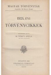 1924. évi törvénycikkek - Dr. Térfy Gyula - Régikönyvek