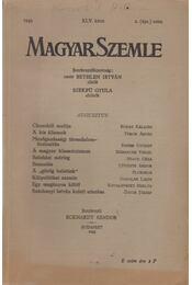 Magyar Szemle 1943. augusztus - Eckhardt Sándor - Régikönyvek