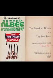 The American Dream / The Zoo Story (aláírt) - Edward Albee - Régikönyvek