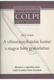 A véleménynyilvánítás határai a magyar bírói gyakorlatban - Fleck Zotlán - Régikönyvek