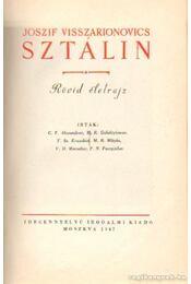 Joszif Visszarionovics Sztálin - Rövid életrajz - G. F. Alekszandrov, M. R. Galaktjionov, V. Sz. Kruszkov, V. Sz. Kruszkov - Régikönyvek