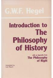 Introduction to the Philosophy of History - G. W. F. Hegel - Régikönyvek