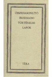 Összehasonlító irodalomtörténelmi lapok - Gaal György - Régikönyvek