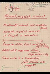 """Gáldi László (1910–1974) nyelvész, műfordító Lucian Blaga (1895–1961) román költő""""Városok, szigetek, óceánok""""című műfordításának saját kézzel írott, három oldal terjedelmű, saját kézzel javított eredeti kézirata. - Gáldi László - Régikönyvek"""