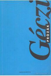 Prózák - Géczi János - Régikönyvek