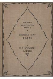 Paris - Georges Riat, Karl Eugen Schmidt - Régikönyvek