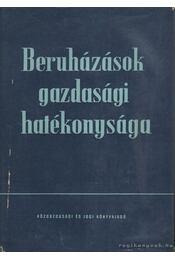 Beruházások gazdasági hatékonysága - Gerle György - Régikönyvek