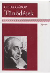 Tűnődések - Goda Gábor - Régikönyvek