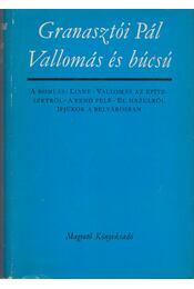 Vallomás és búcsú - Granasztói Pál - Régikönyvek