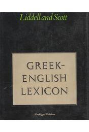 Greek-English Lexicon - H. G. Liddell, R. Scott - Régikönyvek
