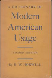 A Dictionary of Modern English Usage - H. W. Fowler - Régikönyvek