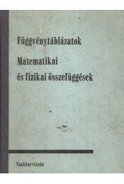 Függvénytáblázatok - Matematikai és fizikai összefüggések - Hack Frigyes, Kugler Sándorné - Régikönyvek