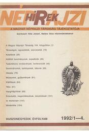 Néprajzi Hírek 1992/1-4. - Hála József, Balázs Géza - Régikönyvek