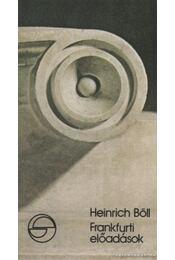 Frankfurti előadások - Heinrich Böll - Régikönyvek
