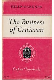 The Business of Criticism - Helen Gardner - Régikönyvek