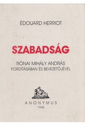 Szabadság - Herriot, Edouard - Régikönyvek