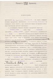 Hevesi Sándor (1873–1939) színházigazgató, rendező szerződése Kelemen Dénes műfordító részére. - Hevesi Sándor - Régikönyvek