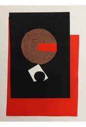 Piros fekete kompozíció - Régikönyvek