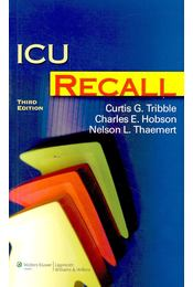 ICU Recall - TRIBBLE, CURTIS G. - Régikönyvek
