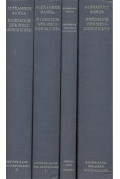 Handbuch der Weltgeschichte in vier Bänden - Die alten Kulturkreise; Das Abendland I.-II.; Register - RANDA, ALEXANDER - Régikönyvek