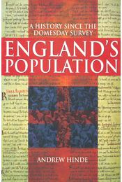 England' s Population - HINDE, ANDREW - Régikönyvek