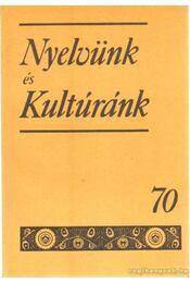 Nyelvünk és Kultúránk 70 - Ime Samu - Régikönyvek