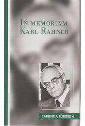 In Memoriam Karl Rahner - Régikönyvek