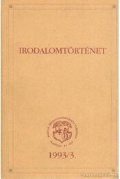 Irodalomtörténet 1993/3 - Régikönyvek