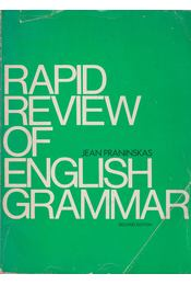 Rapid Review of English Grammar - Jean Praninskas - Régikönyvek