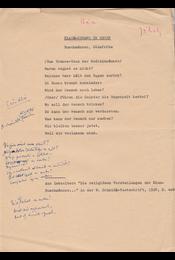 """Jékely Zoltán (1913–1982) költő, műfordító által """"Eső-hívó"""" címmel egy gépelt oldal terjedelmű kézirata, gépelt szöveg mellett Jékely Zoltán saját kezű magyar műfordításával. - Jékely Zoltán - Régikönyvek"""