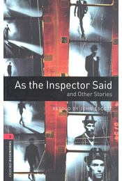 As the Inspector Said and Other Stories - Stage 3 - John Escott - Régikönyvek