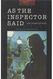 As the Inspector Said and Other Stories - Stage 3 - John Escott - Régikönyvek