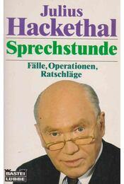 Sprechstunde - Julius Hackethal - Régikönyvek