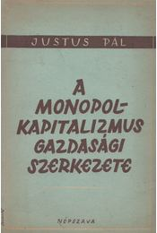 A monopolkapitalizmus gazdasági szerkezete - Justus Pál - Régikönyvek