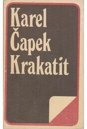 Krakatit - Karel Capek - Régikönyvek